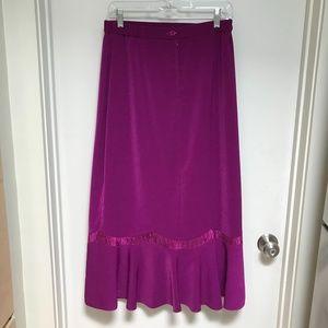 Vintage Purple Skirt Size 10